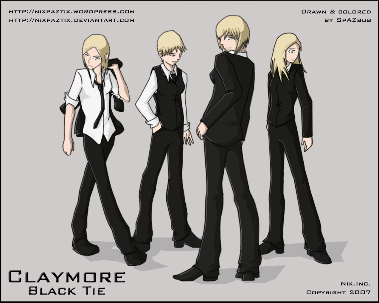 Anime Characters In Suits : Claymore black tie pocky for the motherfuckin win